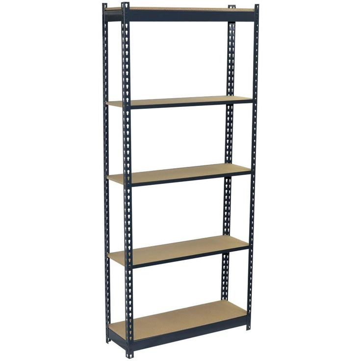 Storage Concepts 72 in. H x 36 in. W x 18 in. D 5-Shelf Steel Boltless Shelving Unit with Low Profile Shelves and Particle Board Decking-P2A5-3618-72W - The Home Depot