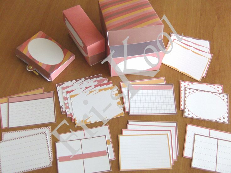 Study Helpers - 9 different designs 4 colors 3 box sizes