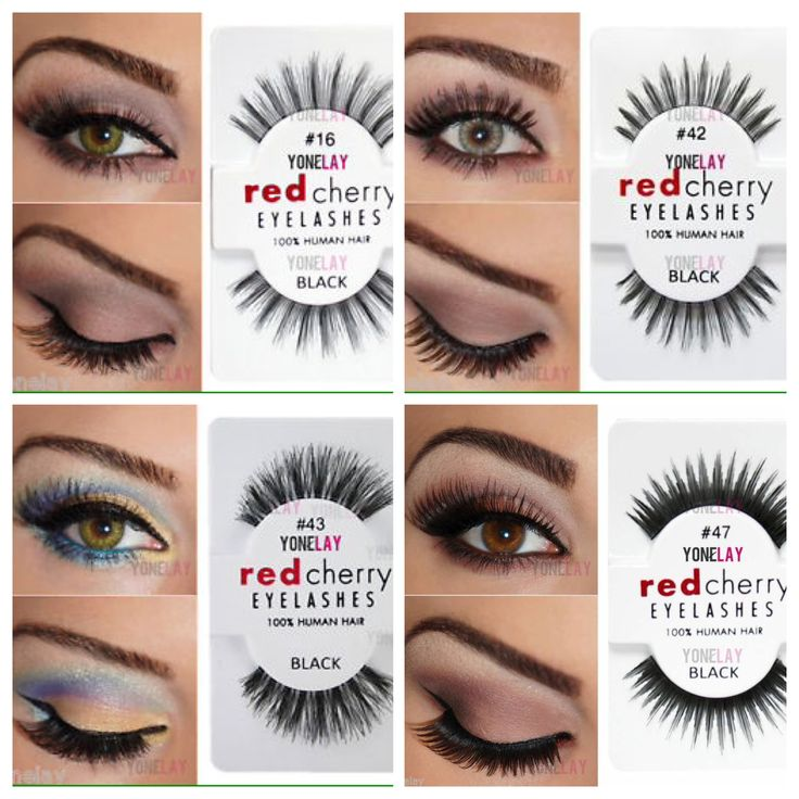 Red cherry lashes: #16, #42, #43, #47