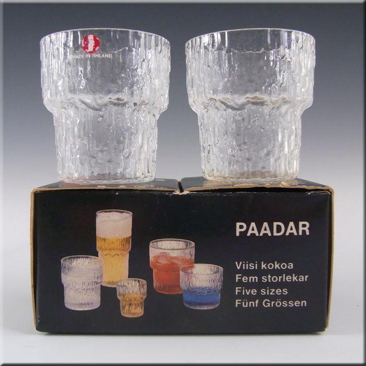 Iittala Glass Pair Paadar Tumblers Tapio Wirkkala - Boxed - £20.00