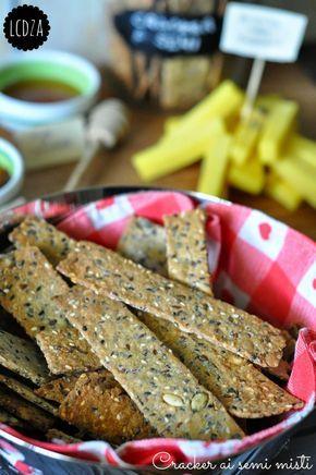 Cracker ai semi misti   La cucina di zia Ale