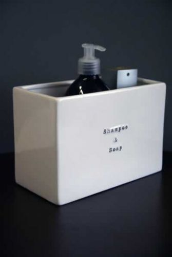 Ceramic Shampoo & Soap Storage - stand alone or wall mounted £20