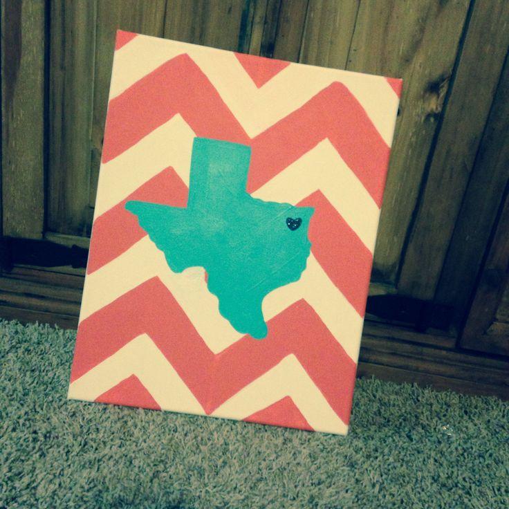 East Texas chevron canvas.