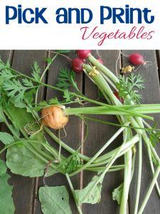 Oliver's Vegetables - Pick and Print Vegetables