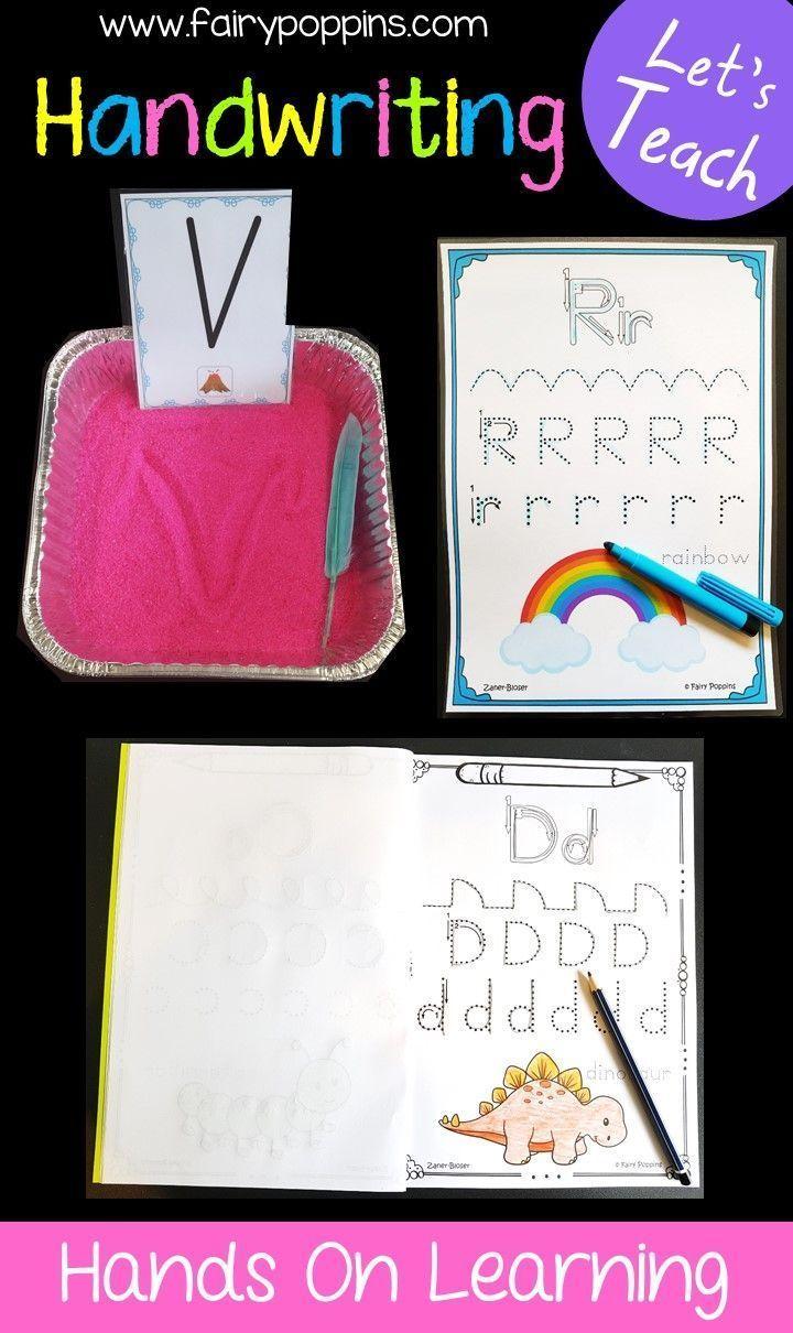 Handwriting Activities Fairy Poppins Handwriting Activities Teaching Handwriting Kids Learning Tools [ 1210 x 720 Pixel ]
