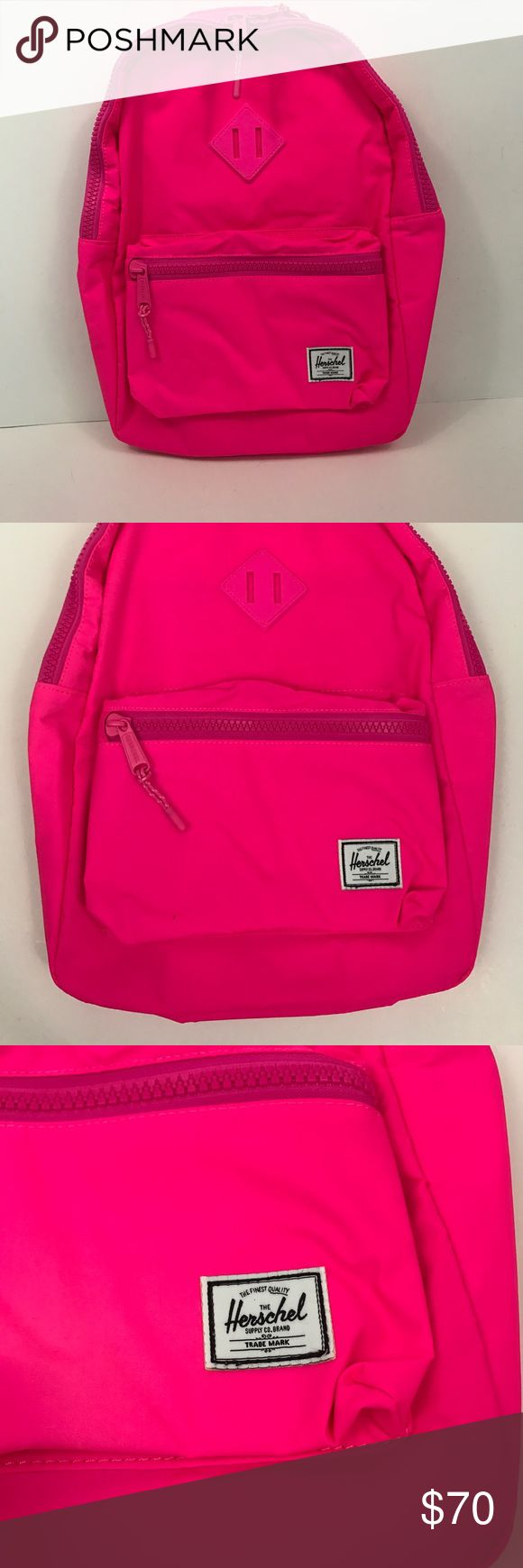NWT Herschel Youth Size Heritage Backpack In Neon NWT Herschel Youth Size Heritage Backpack In Neon Pink MSRP $69.99 Herschel Supply Company Accessories Bags