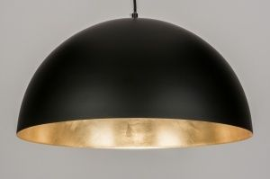 hanglamp 72345: modern, zwart, mat, metaal