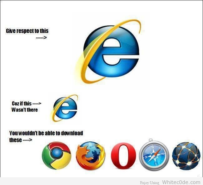 Funny Pic Of The Day: Say Thanks To Internet Explorer