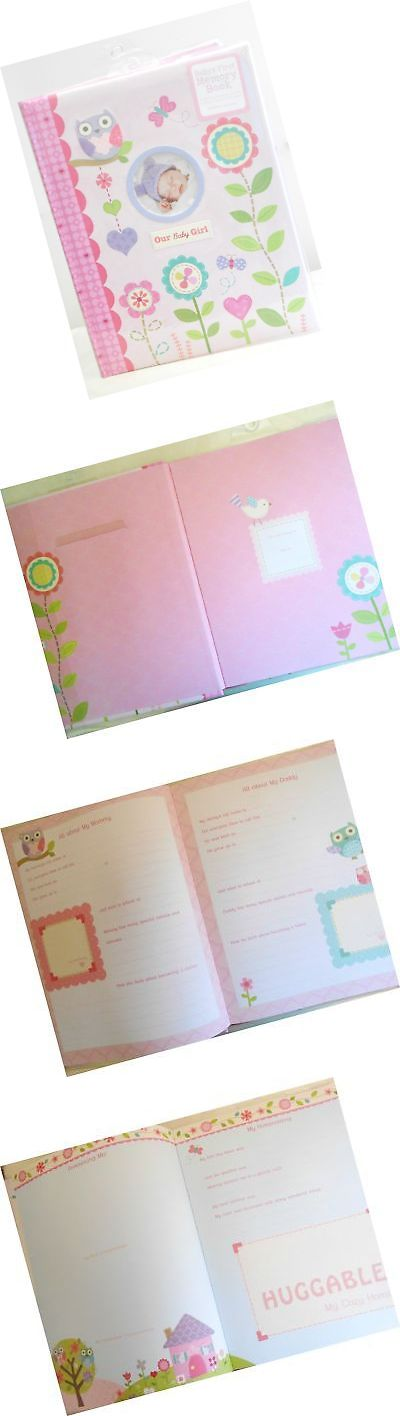 Baby Books and Albums 117389: Baby S First Memory Book Our Baby Girl Pink With Flowers Owls Hearts And Butt... -> BUY IT NOW ONLY: $57.61 on eBay!