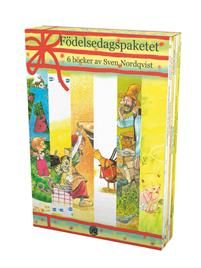 30 april fyller Sven Nordqvist 70 år. Det firar vi genom att bland annat ge ut en samlingsbox som innehåller 6 av författaren utvalda bilderböcker. Boxen pryds av en ny illustration för ändamålet ifråga. Dessutom innehåller den en broschyr om Sven Nordqvist.Boxen innehåller följande 6 titlar: Agaton Öman och alfabetet, Pannkakstårtan, Boken om Nasse, Julgröten, När Findus var liten och försvann och Lisa väntar på bussen, alla i samma storlek. Samtliga titlar är på 32 sidor förutom Boken om…