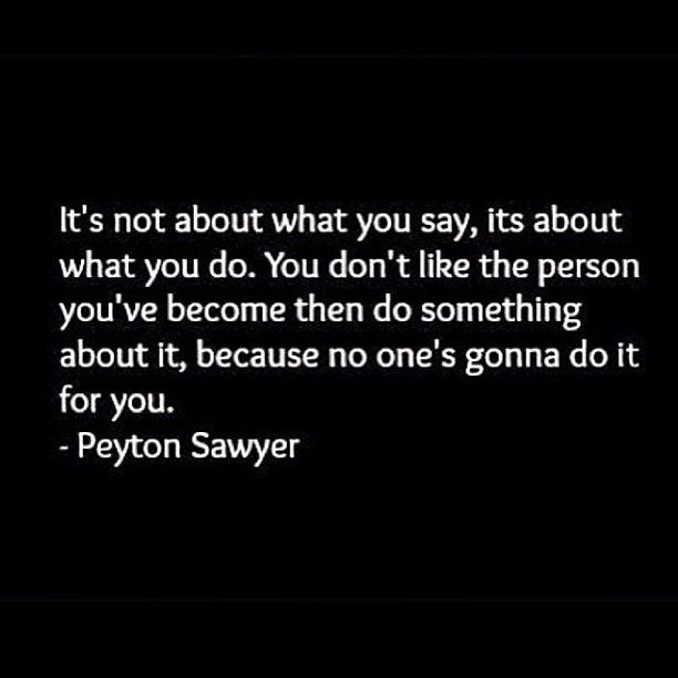 It's not about what you say, its about what you do.