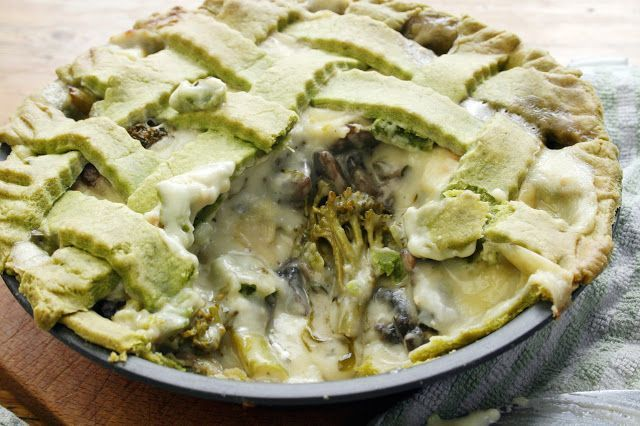 Warm up with Tenderstem & mushroom pie with Lincolnshire poacher cheese sauce.