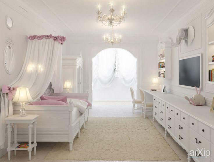 Фото детская комната для девочки - интерьеры, квартира, дом, детская комната, неоклассика, 30 - 50 м2