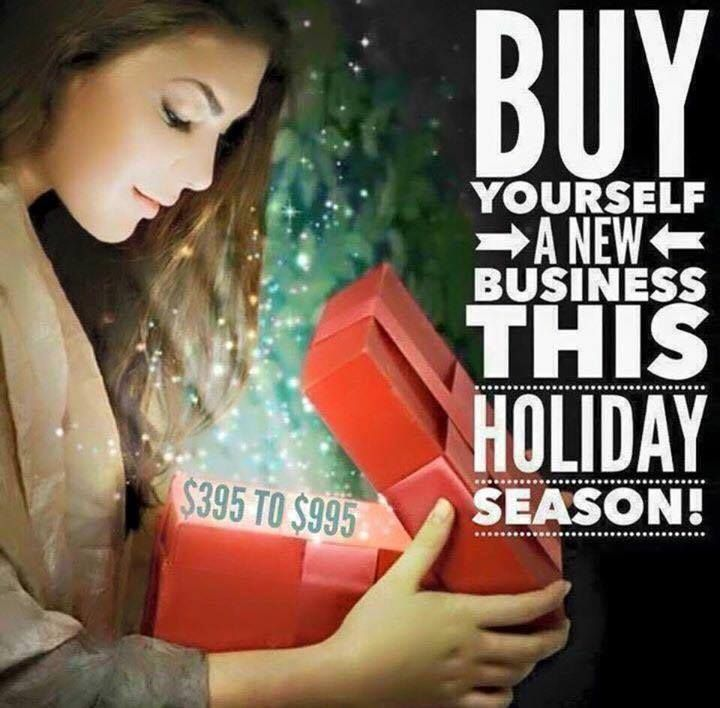 Join me because: 1. You want younger looking skin and wash your face anyway. 2. Tax write off for 2015. 3. Extra income in 2016. 4. It's smart. You get to partner with an amazing brand. 5. Message me for my December Christmas special! heart emoticon