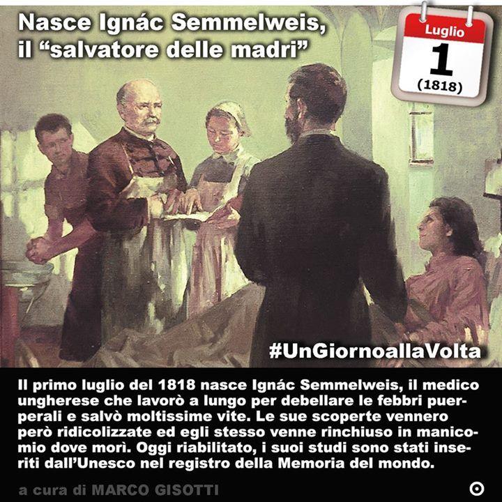 1 luglio 1818: nasce Ignác Semmelweis il medico che scoprì come combattere le febbre puerperali e fu trattato come pazzo  Immaginate cosa accadrebbe se un chirurgo prima di entrare in sala operatoria non si lavasse le mani. Decine di anni di fiction e drammi medico-sanitari ci hanno insegnato che il bravo dottore si lava abbondantemente le mani prima di operare. Lo abbiamo imparato così bene che oggi la pratica di disinfettarsi le mani si è così diffusa da diventare un business anche laddove…