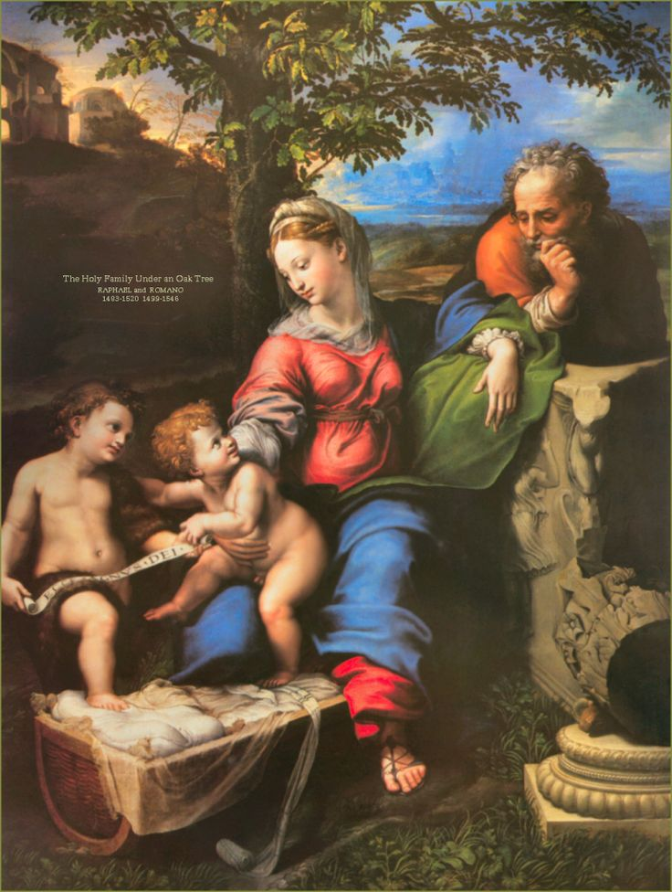 RAPHAEL AND ROMANO - 31 December – Feast of the Holy Family and the Seventh Day of the Octave The Holy Family is the name given to the family unit of Jesus: The Divine Son of God Jesus, His mother the Virgin Mary and His foster-father Joseph. We know very little about the life of the Holy Family through the canonical Gospels. They speak of the early years of the Holy Family, including the birth of Jesus in Bethlehem, the flight into Egypt, and the finding of Jesus in the temple. Various