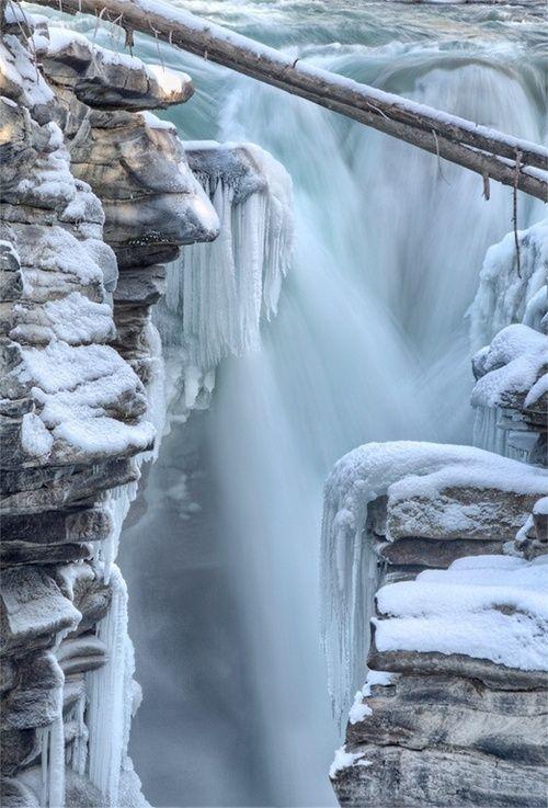 Athabasca Falls, Jasper National Park, Canada / Winter Solstice
