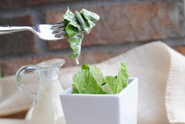 25-cal Caesar Dressing ~ creamy 1-point dressing full of flavor, zing and cheese.
