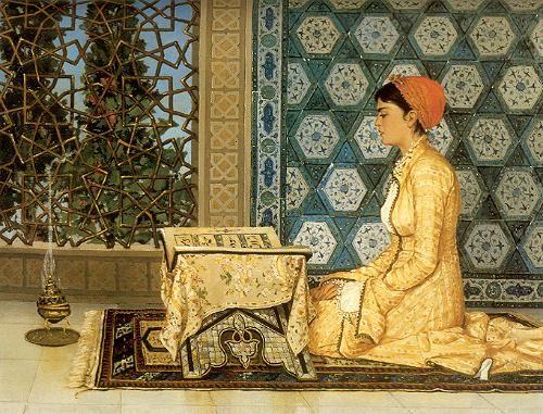 Osman Hamdi Bey, Kuran okuyan kız (Girl reading the Qu'ran)
