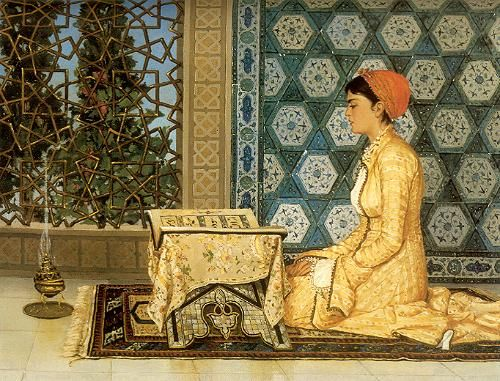 Osman Hamdi Bey, Kuran okuyan kız (Girl reading the Qu'ran)