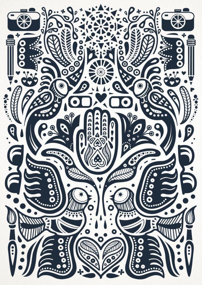 Folklore Dutch Pattern Art Print by Marigold Studios | Society6 $17.00 Birds, flower, heart, hamsa, sun, camera, painting, creative, designer, beautiful