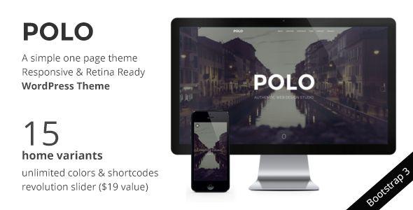 POLO - WordPress One Page Responsive Portfolio Live Preview: http://themeforest.net/item/polo-wordpress-one-page-responsive-portfolio-/7994934?ref=designova