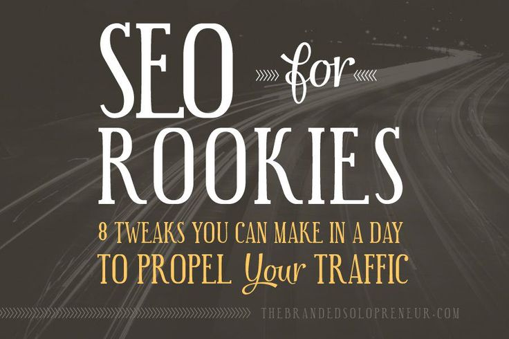 A Rookie's SEO Guide: 8 Tweaks You Can Make {In A Day} To Propel Your Organic Traffic