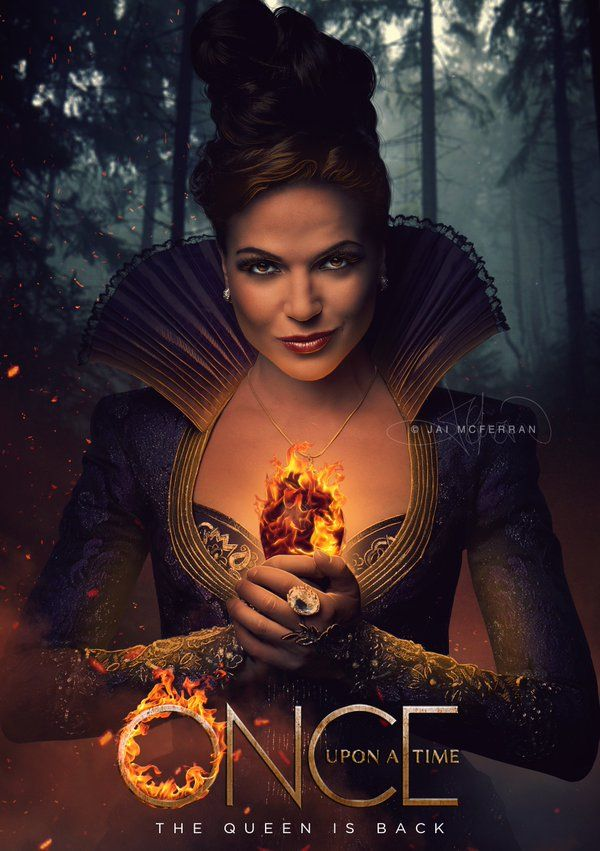 Awesome Evil Queen Regina (Lana) on an awesome poster for awesome #Once S6