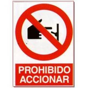 Señal Prohibido Accionar - http://www.janfer.com/es/prohibicion/652-senal-prohibido-accionar.html