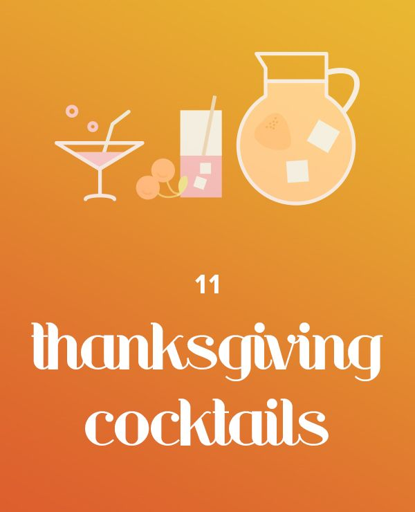 Use apple, cranberry and pumpkin to make Thanksgiving cocktails.