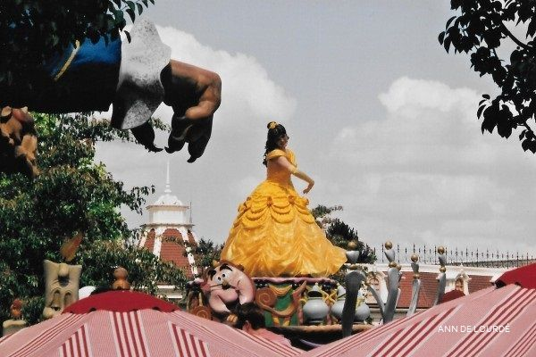 Belle from The Beauty and the Beast in Princess Parade, Summer 2002, Disneyland Paris, Marne-la-Vallée, France.