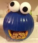 The Cookie Monster Pumpkin - Winners of the Extreme Pumpkins 2014 Pumpkin Carving Contest