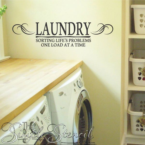 a fun easy to install vinyl wall quote for your laundry room reads sorting