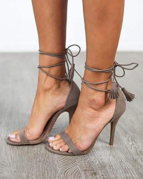 These Lovely Wrap Suede Heels Make A Great Addition To Any Outfit. Perfect To Style With A Dress, Skirt, Or Shorts. Wrap For The Tassel To Be Up Front Or In Back. Heel 3.5 inches