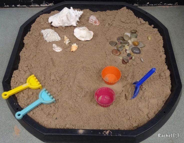 """Sand tray 'beach' on the floor... from Rachel ("""",)"""