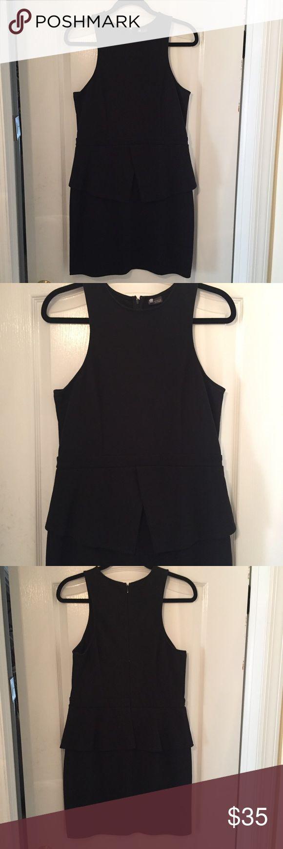Urban Outfitters Black Peplum Dress Sparkle + Fade Black Peplum Dress Urban Outfitters Dresses