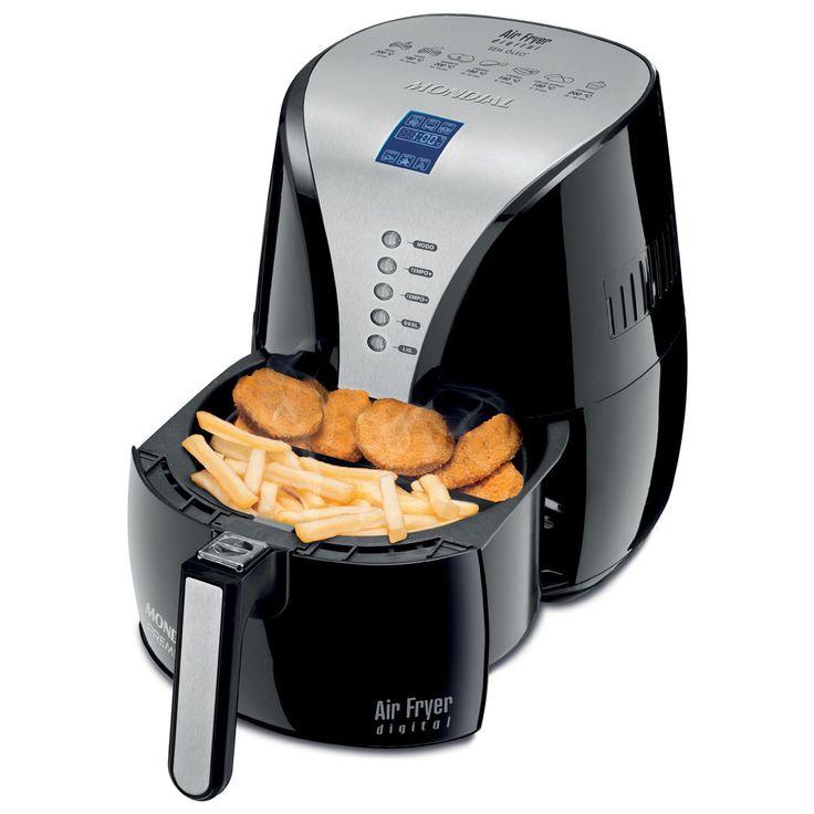 Fritadeira Air Fryer Digital Premium Mondial AF-04 com Timer e Display Digital – Preta   Extra.com.br