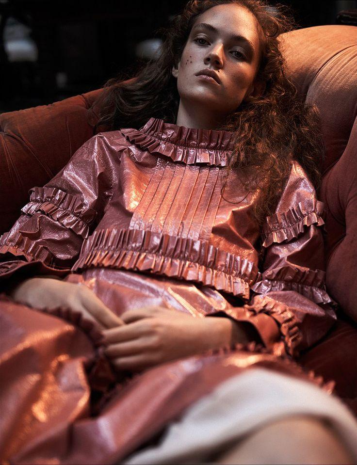 "Adrienne Jüliger in ""Some Velvet Morning"" by Lachlan Bailey for Dazed Magazine Spring Summer 2016"