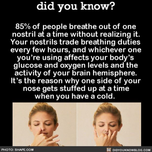 So I tried this and turns out (at the moment) I'm breathing with my left nostril.