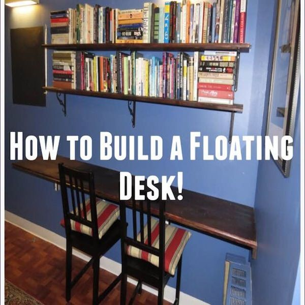 1000 ideas about floating computer desk on pinterest for Build your own floating desk