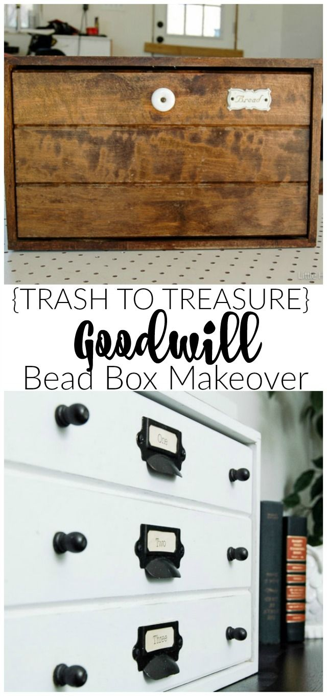 Tin bread box drawer insert -  Trash To Treasure An Old And Dated Bread Box Gets Turned Into Beautiful Storage