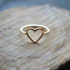 14kt Gold Filled Open Heart Ring//Handcrafted