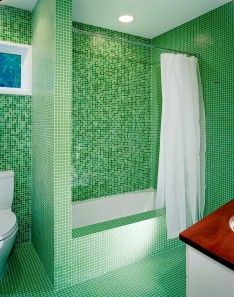 Modern Bathroom Design Malaysia With Mosaic Tile Patterns And Recessed Lighting