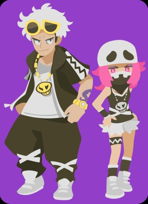 Team Skull<<<<<>I'm slightly annoyed that they used the same name as that team from Explorers of Sky but maybe that can be a hidden reference Like the leader will have a Skuntank, Koffing and Zubat in his first battle or something