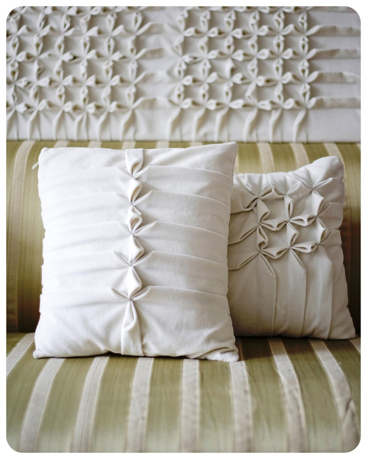 SMOCKING - Cushions and wall hangings by McClement Textiles