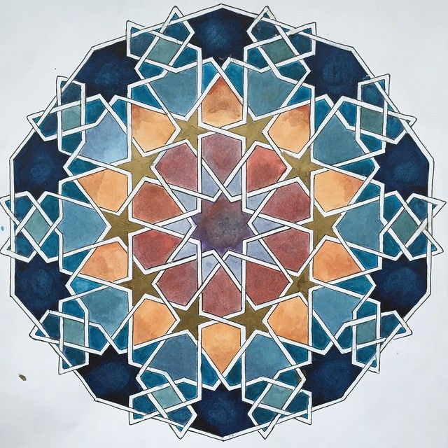 :::: ✿⊱╮☼ ☾ PINTEREST.COM christiancross ☀❤•♥•* :::: #geometry #islamicpattern #artofislamicpattern
