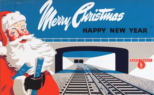 Toronto Transit Commission Vintage Holiday Greeting