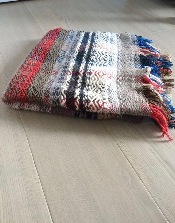 SOLD Handwoven Wool Blanket No. 3.2