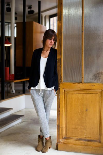 Marant - try with whistles trousers, white t, black stripe blazer and clarks desert boots