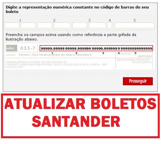 Boleto Santander Vencido Atualizar Boleto Santander Santander